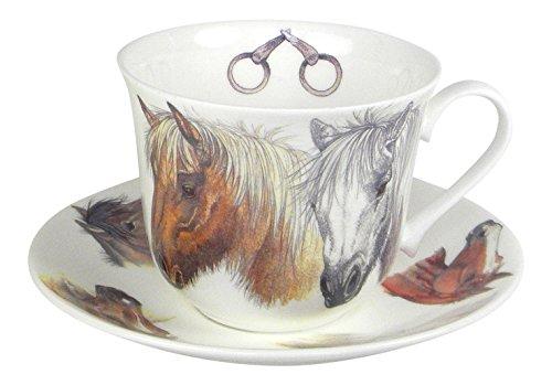 Roy Kirkham Horse Lovers Breakfast Tea Cup and Saucer Set Fi