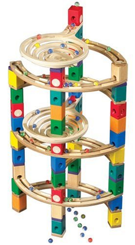 Hape Quadrilla Wooden Marble Run Construction Twist Add On Set (Quadrilla Twist Marble)