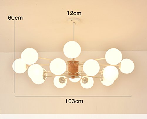 pllp Living room chandelier, postmodern minimalist style Nordic lamps, personalized creative bedroom dining room chandelier,White,16
