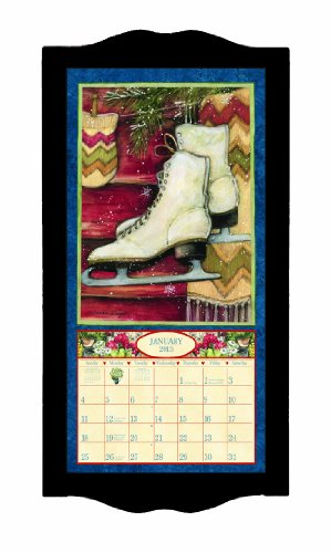 Lang Perfect Timing - Lang Classic Black Diamond Vertical Calendar Frame, 8.9 x 17.5 Inches (1015003)
