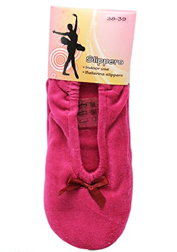Pink Indoor Plush Ballerina Slippers (Size 38-39) nXYV7aZM