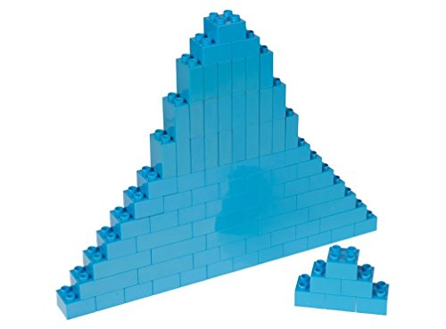 Strictly Briks Classic Big Briks by Building Brick Set 100% Compatible with All Major Brands | 3 Large Block Sizes For Ages 3+ | Premium Robins Egg Blue Building Bricks | 84 Pieces