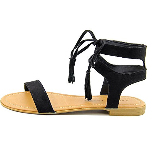 Sandals Chinese reck Toe Laundry Black Casual Slide Womens Open 0wrFqx0f