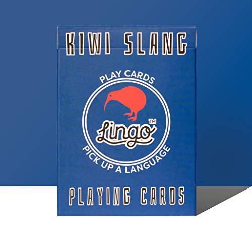 Lingo Slang Playing Cards | Language Learning Game Set | Fun Visual Flashcard Deck to Increase Vocabulary and Pronunciation Skills (Kiwi Slang) ()