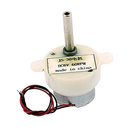 DealMux DC 6V 60rpm 2 Ligar os cabos Mini Micro Motor para Condição Air aquecedor de água - - Amazon.com
