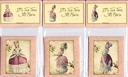 Vintage Inspired Tea Cup Marie Antoinette Tea Bag Envelopes Party ()
