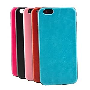 Mini - Ultrathin Solid Color Crazy Horse Grain Leather TPU Soft Case for iPhone 6 , Color-Pink