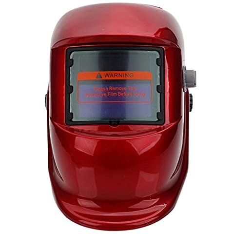 Red Welding Helmet Pro Solar Powered Auto Darkening Grinding Welder Mask Gear (How Much Does Windows 7 Cost)