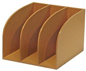 Natureline trieur vertical 3 cases bois nature line [fournitures de