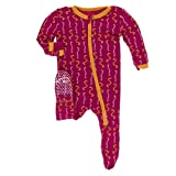 Kickee Pants Print Footie with Zipper (Rhododendron Worms - 2T)