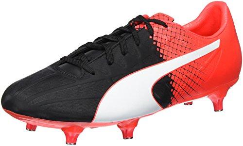 Puma Evospeed 4.5 Sg, Botas de Fútbol para Hombre Negro - Schwarz (black-Puma White-red blast 01)