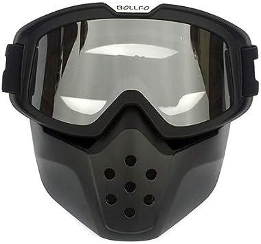 Vhccirt Masque Protecteur de Moto avec des Lunettes polaris/ées Masques de Ski Masque Masque de cr/âne Halloween