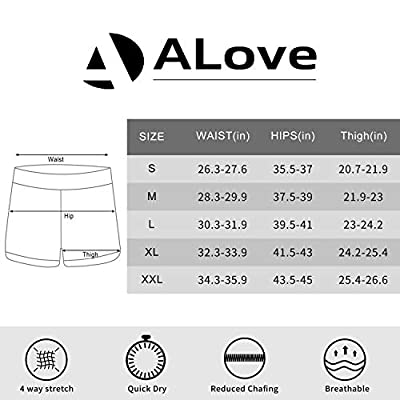 ALove Womens Solid Swim Shorts Stretch Board Shorts Swimsuit Bottoms at Women's Clothing store