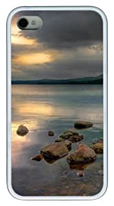 iPhone 4S Case,Glimpse lake TPU Custom iPhone 4/4S Case Cover Whtie