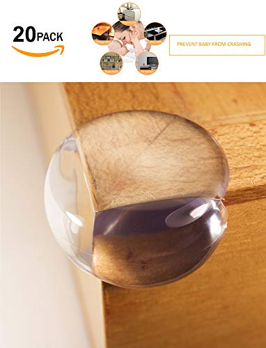 AFIIT- Clear Corner Guards Clear Corner Furniture Protectors Baby Proofing from Furniture Sharp Edges Child Safety Corner Cushions Bumper Head Injury Protection Quick Easy to Use Pre-Stick Adhesive by AFIIT (Image #5)