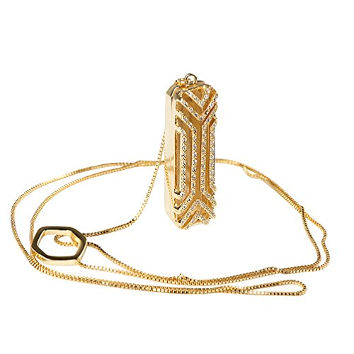 Price comparison product image Wearlizer Accessories Pendant for Fitbit Flex 2 with Elegant Gift Box,  Bling Gold