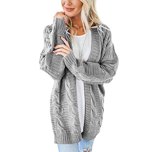 RCTO Open Front Cardigan Sweater Women Knitted Long Sleeve Womens Jumpers Oversized Casual Outerwear Pull Femme - Denim Femme Jacket La