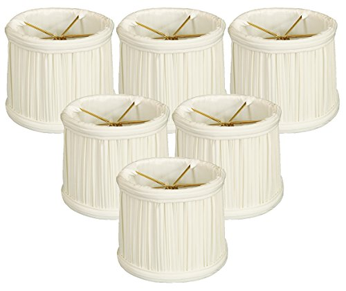 - Royal Designs Gather Pleat Chandelier Shade, Set of 6, Size 5, White (CS-213WH-6)