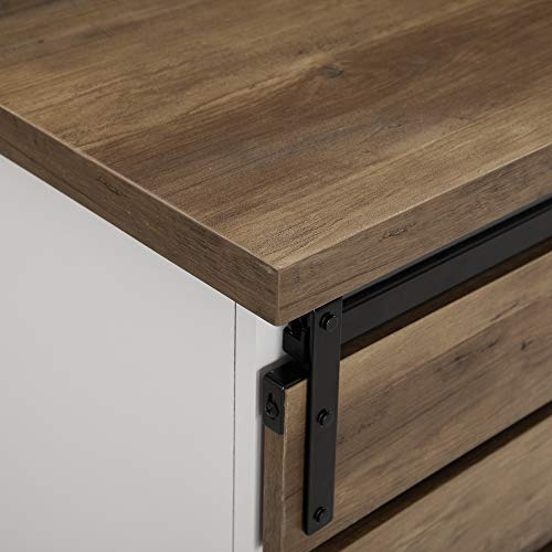 WE Furniture AZF32ALSDRO Buffet, 32'', Solid White/Rustic Oak by WE Furniture (Image #4)