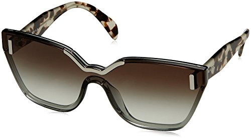 Prada Women's Hide Catwalk Sunglasses, Light Grey/Grey, One - Ladies Sunglasses Prada
