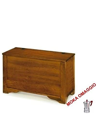 CLASSICO cassapanca mobile porta legna arte povera soggiorno sala ...