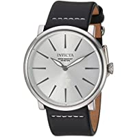 [Sponsored]Invicta Men's 'I-Force' Quartz Stainless Steel and Leather Casual Watch, Color:Black...