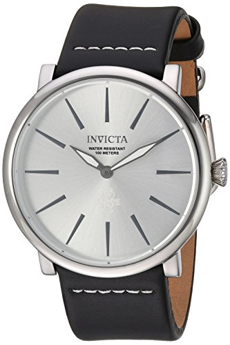 Invicta Men's 'I-Force' Quartz Stainless Steel and Leather Casual Watch, Color:Black (Model: 22932)