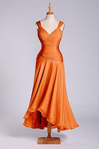 Femmes Robes Ligne Th Longueur Adorona Soie De Tangerine En De De Mousseline zH6Y0qw6