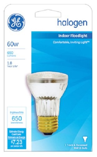 Two 60w Halogen Lights (GE Lighting # 47578 60W, 120V, Glass Halogen Reflector Flood Light Bulb - Quantity 2)