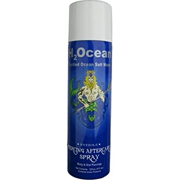 Amazoncom H2ocean 4oz Piercing Aftercare Spray Beauty