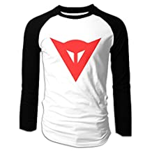 SuperYY Men's Dainese Logo Raglan Baseball T-Shirt