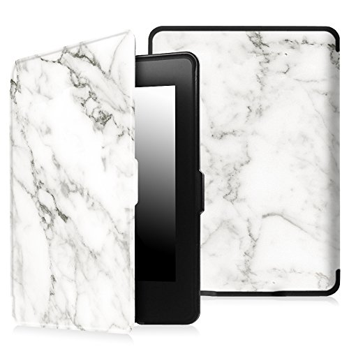 Fintie Case for Kindle Paperwhite - The Thinnest and Lightest PU Leather Cover with Auto Sleep/Wake for All-New Amazon Kindle Paperwhite (Fits All 2012, 2013, 2015 and 2016 Versions), Marble