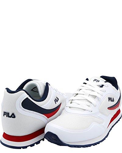 Fila Heren Voorloper Sneaker Wit / Navy / Rood