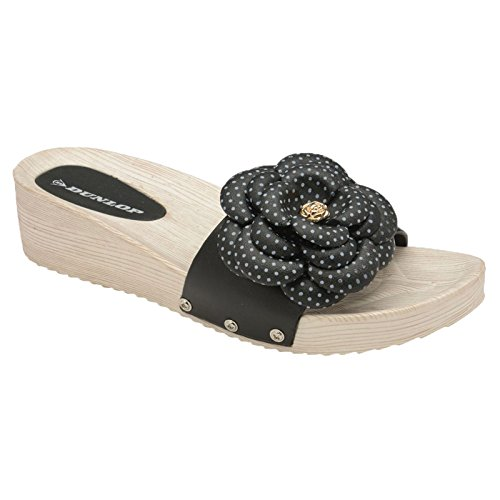 Black Dunlop Dunlop Mules Femme Femme Dunlop Black Dunlop Mules Mules Black Femme Mules Femme tOTqrWOw