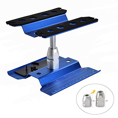 XPURC Rc car Stand Repair Workstation Aluminum Alloy 360 Degree Rotation Lift Or Lower for Rc car 1/12 1/10 1/8 (Blue)
