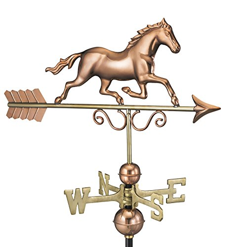 Good Directions Galloping Horse Weathervane, Pure Copper by Good Directions