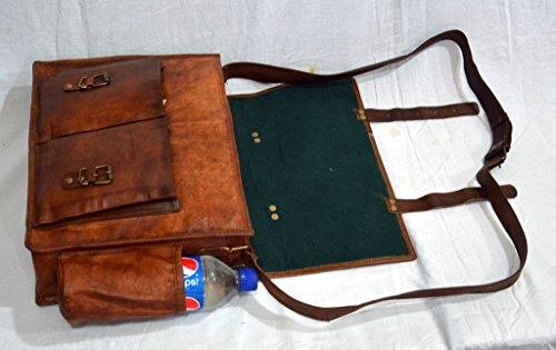 Messenger of Leather Handmade Vintage Leather Briefcase for Men & Women. 11'' x 15'' x 4.5'' by Messenger of Leather (Image #3)
