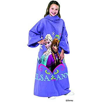 Disney Frozen, Sisters Youth Comfy Throw Blanket with Sleeves, 48