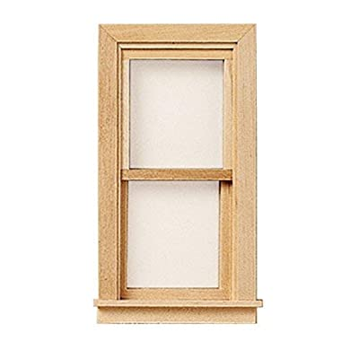 Melody Jane Dollhouse Traditional Non-Working Window Miniature Builders DIY 1:12 Scale: Toys & Games
