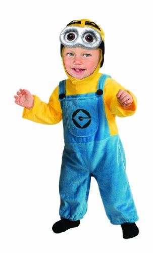 Rubie's Costume Despicable Me 2 Minion Romper, Blue/Yellow, 6-12 (Minion Mascot Costumes Rental)