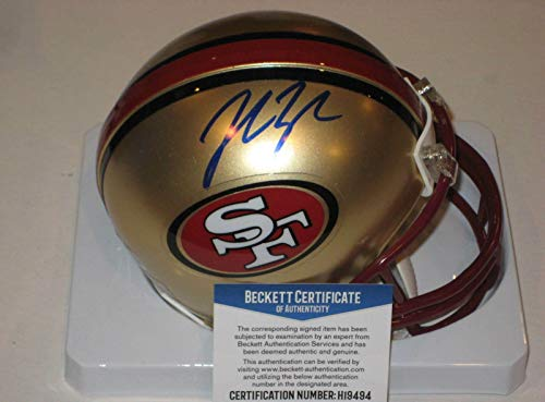 - Autographed John Lynch Mini Helmet - San Francisco 49ERS w Beckett COA - Beckett Authentication - Autographed NFL Mini Helmets