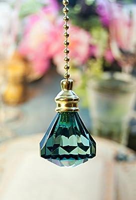 2 of Gorgeous Green Acrylic Crystal Diamond Ceiling Lighting Fan Pulls