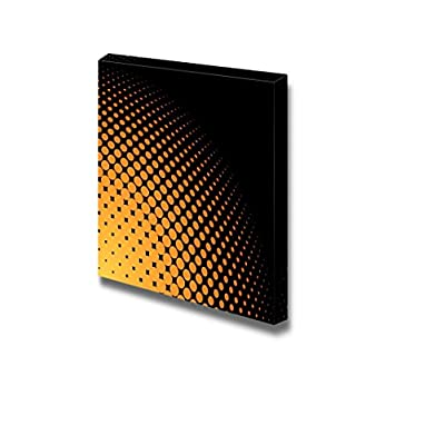 Canvas Prints Wall Art - Abstract Yellow and Orange Halftone Background Dots Pattern | Modern Wall Decor/Home Decoration Stretched Gallery Canvas Wrap Giclee Print & Ready to Hang - 12