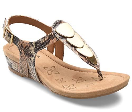 Comfortiva Women's, Summit Low Heel Sandal Caramel 8.5 M