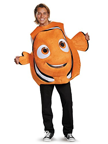 Disney Finding Nemo Deluxe Kids Costumes - Disney Men's Finding Dory Nemo Costume, Orange, One