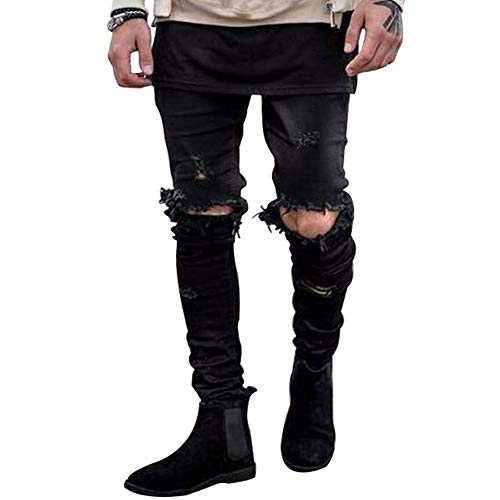 Hungson Stretchy Ripped Skinny Biker product image