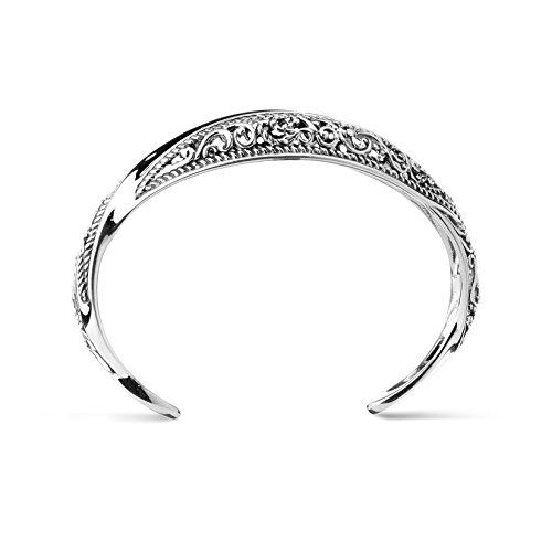 Carolyn Pollack Signature Genuine .925 Sterling Silver Wave Cuff Bracelet by Carolyn Pollack (Image #4)