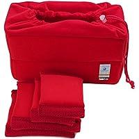Koolertron NEW Shockproof DSLR SLR Camera Bag Partition Padded Camera Insert, Make Your Own Camera Bag(Red)