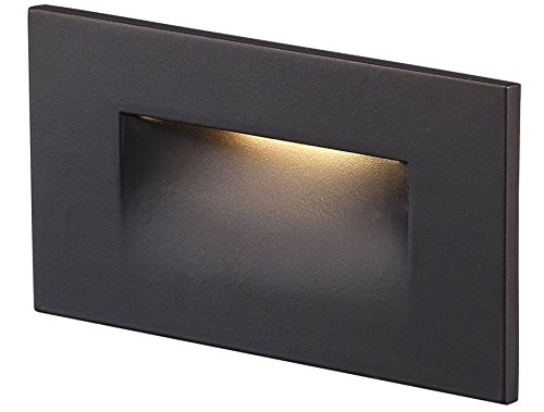 Cloudy Bay 120V LED Step Light, 3000K Warm White 3W 100lm,Indoor/Outdoor Stair Light,Oil Rubbed Bronze Finis (Recessed Vertical Step Light)