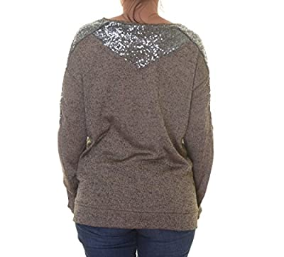 NY Collection Women's Metallic Knit Sweater